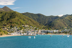 Picton on South island of New Zealand Stock Image
