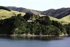 Picton y la bahía de muchas ensenadas Fotos de archivo