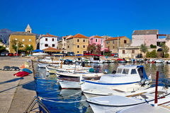 Pictoresque colorful Dalmatian village of Vinjerac Stock Photography