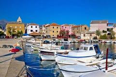 Pictoresque colorful Dalmatian village of Vinjerac Stock Photography