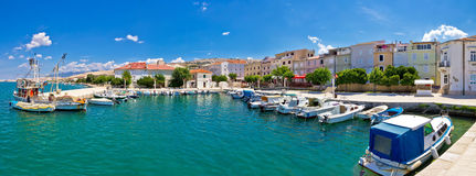 Pictoresque fishermen village of Pag panorama Stock Image