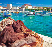 Pictoresque fishermen village of Razanac square composition Stock Images