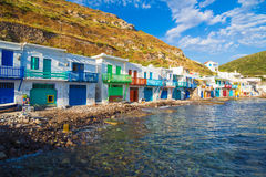 Pictoresque Klima town, Milos island, Cyclades, Aegean, Greece Royalty Free Stock Photo
