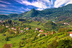 Pictoresque landscape of Samobor hills. Northern Croatia Royalty Free Stock Image