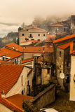 Pictoresque. Rooftops of the houses in a little italian town named grumento Stock Images