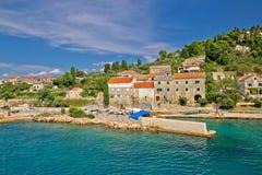 Pictoresque small island of Osljak. In Zadar channel, Dalmatia, Croatia Royalty Free Stock Photo