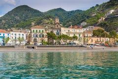 Pictoresque village of Minori, Amalfi coast, Campania, Italy. Pictoresque village of Minori, view from sea, Amalfi coast, Campania, Italy Stock Photos