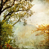 Pictorial autumn. Autumn - artwork in painting style Royalty Free Stock Photography