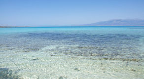 Pictorial background of turquoise sea, Chrissi Island, Crete, Greece Stock Photography
