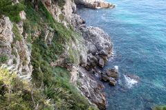 Pictorial blue Adriatic sea Stock Photography