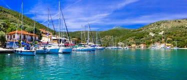 Pictorial fishing village Sivota in Lefkada, Ionian island Royalty Free Stock Image