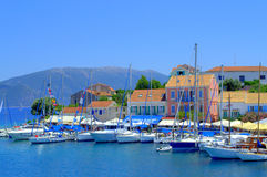 Pictorial Greek village view Royalty Free Stock Photography