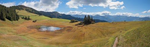 Pictorial hiking area stelserberg, graubunden Royalty Free Stock Image