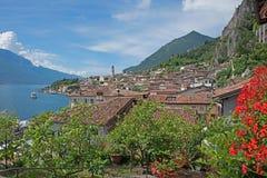 Pictorial italian tourist resort limone sul garda, italy Stock Photography