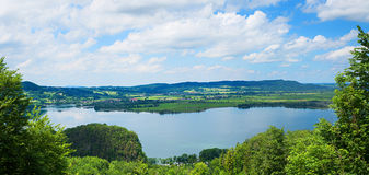 Pictorial kochelsee, view from above Royalty Free Stock Images
