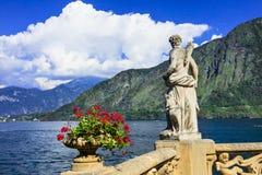 Pictorial lago di Como, villa Balbinello Royalty Free Stock Photo