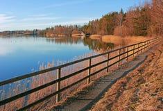 Pictorial lake seehamer see, germany. Pictorial lake seehamer see, autumnal landscape, germany Stock Photos