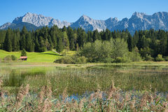 Pictorial lake tennsee and karwendel mountains Stock Images