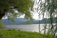 Pictorial landscape of Drina River, Serbia Stock Image