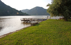Pictorial landscape of Drina River, Serbia Royalty Free Stock Photography