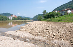 Pictorial landscape of river Drina, Serbia Royalty Free Stock Image