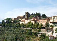 Pictorial landscape of Romanesque, Medieval town Montekatini Alto, Italy Royalty Free Stock Photo