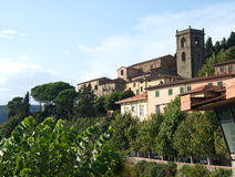 Pictorial landscape of Romanesque, Medieval town Montekatini Alto, Italy Stock Image