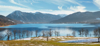 Pictorial landscape tegernsee in early springtime Royalty Free Stock Photography