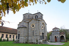 Pictorial landscape of a village church, Serbia Stock Photo