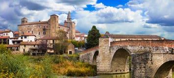 Impressive medieval Bormida monastery and castle in regione Asti Stock Images