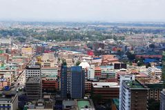 Pictorial Nairobi Kenya. Aerial view of Nairobi the capital city of Kenya Stock Photography