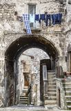 Pictorial old streets of Italian villages. In Abruzzi, Italy Stock Images