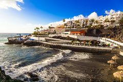 Puerto di Santiago - small coastal town in Tenerife . Canary islands royalty free stock photo