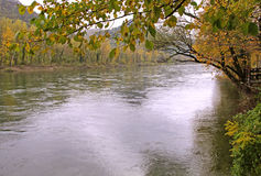Pictorial river landscape in autumn Royalty Free Stock Photo
