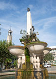Pictorial Romanesque fountain in Montekatini, Italy Royalty Free Stock Photo