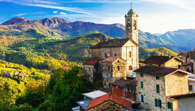 Pictorial small village in mountains - Castelcanafurone, Emilia- Stock Images