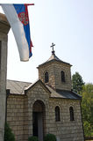 Pictorial small village Orthodox chapel Stock Photo