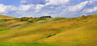 Pictorial Tuscana landscapes. Golden hills of  Orcia. panorama Stock Photo