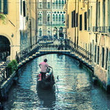Pictorial Venetian canal Stock Photography