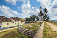 Pictorial view of light houe - Galle fort (Sri Lanka) Stock Photos