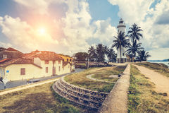 Pictorial view of light houe - Galle fort (Sri Lanka) (Sun) Royalty Free Stock Images