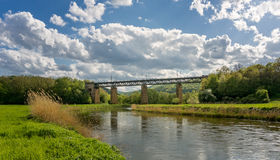 Pictorial view of a train bridge in Germany Royalty Free Stock Image