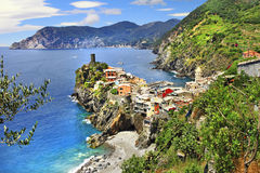 Pictorial village Vernazza, Cinque terre Stock Photography