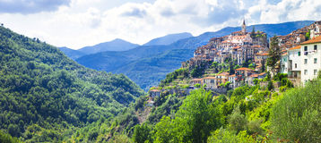 Pictorial villages of Italy - Apricale in Liguria Royalty Free Stock Photography