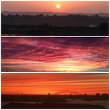 Pictorials неба захода солнца Стоковые Фотографии RF