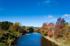 Pictou East River fall landscape Nova Scotia NS Canada Stock Images