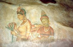 This is pictuer in Sigiriya. Royalty Free Stock Images