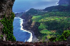 Pictueresque landscape on the Azores with terrace- fields