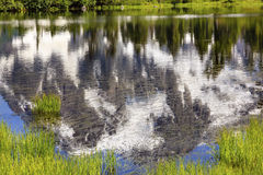 Picture湖摘要登上Shuksan华盛顿美国 库存图片