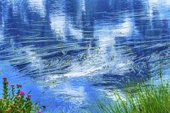 Picture湖登上Shuksan反射华盛顿美国 免版税库存照片